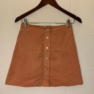 Suede mini skirt size 2